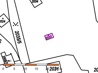 Ukázka mapy se zobrazenou nemovitostí